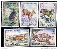 326 Espagne Mongoose Mangouste Chamois Wolf Loup Mole Taupe Genet Genette MNH ** Neuf SC (ESP-80) - Stamps