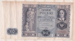 Pologne 20 Zlotych 11 Novembre 1936 - Poland