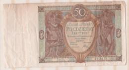 Pologne 50 Zlotych 1 Septembre 1929 - Pologne