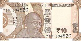 India - Pick New - 10 Rupees 2018 - Unc - India