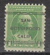 USA Precancel Vorausentwertung Preo, Locals California, San Bernardino 249 - Preobliterati