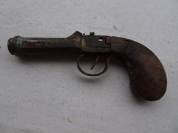 Petit Pistolet En Bronze - Armes Neutralisées