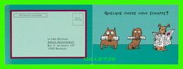 ADVERTISING - PUBLICITÉ - LA LIBRE BELGIQUE PLUS RIEN NE VOUS ÉCHAPPE 2001  - CARTE DOUBLE - - Publicité