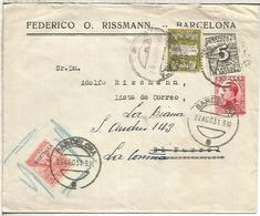 SPAIN BARCELONA TO FERROL AND THEN CORUÑA RESENT EXPRESS URGENTE AMBULANTE RAILWAY BETANZOS FERROL EXPRESO MADRID CORUÑA - 1931-Hoy: 2ª República - ... Juan Carlos I