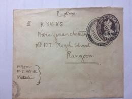 BURMA - George V Cover Nattalin To Rangoon - Birmanie (...-1947)