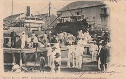 Ile De La Réunion - PORT - Le Courrier De France En Quarantaine - Les Passagers S'embarquent Sur Un Chaland /Cliché Luda - Autres