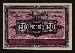 GEFANGENENLAGER GELD LAGERGELD BILLET CAMP GUBEN PRISONNIER ALLEMAGNE KG POW GUERRE 1914 1918 - [10] Military Banknotes Issues