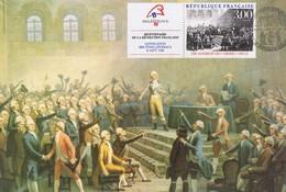 Carte Maximum - Révolution Française - 1788 Assemblée Des 3 Ordres, VIZILLE  - Oblitération GRENOBLE Et VIZILLE - Révolution Française