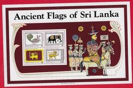 SRI LANKA MNH - 1980 Ancient Flags - 22 රු. - Michel LK BL13 - Sri Lanka (Ceylon) (1948-...)