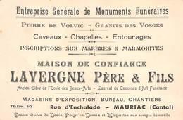 15 - Mauriac - Carte De Visite - Maison Lavergne Père & Fils - Pierre De Volvic Granits Des Vosges - Mauriac
