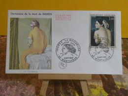 Jean-Auguste-Dominique Ingres, La Baigneuse - 82 Montauban - 9.9.1967 FDC 1er Jour - Coté 7€ - 1960-1969