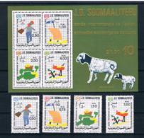 Somalia 1979 Kinder Mi.Nr. 278/81 Kpl. Satz + Block 8 ** - Somalia (1960-...)
