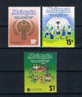 Malaysia 1979 Kinder Mi.Nr. 199/201 Kpl. Satz ** - Malaysia (1964-...)