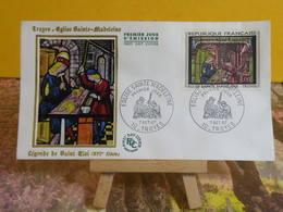 Église Sainte Madeleine (Saint Éloi) - 10 Troyes - 7.10.1967 FDC 1er Jour - Coté 4€ - 1960-1969