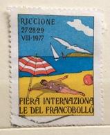 RICCIONE 1977 FIERA INTERNAZIONALE DEL FRANCOBOLLO  ERINNOFILO  CHIUDILETTERA - Francobolli