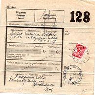 COLIS DU SOLDAT 1939 COB.CF. 204 Surcharge 6 Fr Sur 5,50 Fr Coupé En Deux  128 OOSTDUINKERKE- Ten Velde B.P.S. 17 - Spoorwegen