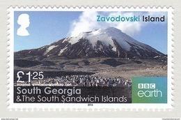 South Georgia 2016 Zavodovski Island Mountains Volcano (Mount Curry) MNH ** - Géorgie Du Sud