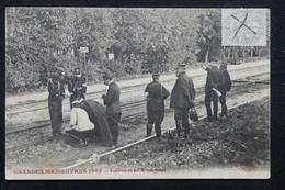 MILITARIA - Carte Postale - Grandes Manœuvres - Expériences Sur La Voie Ferrée , Voyagé En 1906 - L 21833 - Manovre