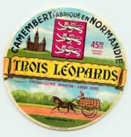 ETIQUETTE DE FROMAGE - CAMEMBERT - TROIS LEOPARD - Cheese