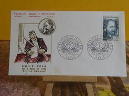 Historique, Émile Zola - Paris - 4.2.1967 FDC 1er Jour N°590 A - Coté 2€ - 1960-1969