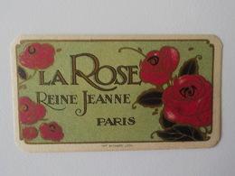 Ancienne Carte Parfumée Reine Jeanne Paris La Rose Imprim Richard Lyon - Oud (tot 1960)