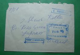 1997 Special Letter ORDERED And TAKEN TARIF, Seal: TIRANA - Albanien