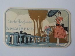 Ancienne Carte Parfumée De  Maubert Femme Avec Ombrelle - Cartes Parfumées