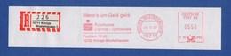 BRD AFS - Königs Wusterhausen, Wenn`s Um Geld Geht  - Sparkasse Dahme-Spreewald1997 + R-Zettel - Marcophilie - EMA (Empreintes Machines)