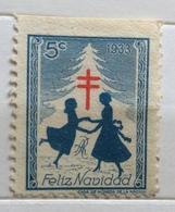 ANTITUBERCOLARE PER IL NATALE DEL 1933 FELIZ  NAVIDAD  ERINNOFILO CHIUDILETTERA - Francobolli