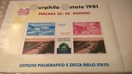 ERINNOFILI VIGNETTE CINDERELLA - PESCARA 1981 IPZS - Erinnofilia