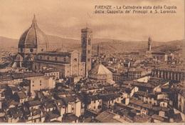 FIRENZE LA CATTEDRALE VISTA DALLA CUPOLA DELLA CAPPELLA DE PRINCIPI A S. LORENZO  AUTENTICA 100% - Firenze