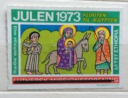 ETIOPIA  PER IL NATALE DEL 1973  FLUGTEN TIL AEGIPTEN   ERINNOFILO CHIUDILETTERA - Francobolli