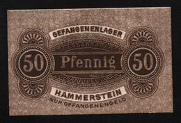 GEFANGENENLAGER GELD LAGERGELD BILLET CAMP HAMMERSTEIN PRISONNIER ALLEMAGNE KG POW GUERRE 1914 1918 - [10] Military Banknotes Issues