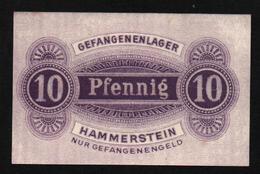 GEFANGENENLAGER GELD LAGERGELD BILLET CAMP HAMMERSTEIN PRISONNIER ALLEMAGNE KG POW GUERRE 1914 1918 - Altri