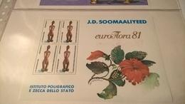 ERINNOFILI VIGNETTE CINDERELLA - SOOMAALIYEED EUROFLORA 1981 IPZS - Erinnofilia