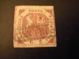 NAPOLI 1858 SASSONE N. 7 - 2 Gr. Rosa Chiaro 1^ Tav. Usato, Occasione - Neapel