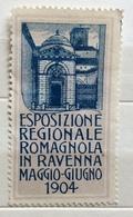 ESPOSIZIONE REGIONALE ROMAGNOLA  IN RAVENNA MAGGIO GIUGNO 1904  ERINNOFILO CHIUDILETTERA - Francobolli