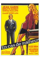 Brigitte Bardot Jean Gabin En Cas De Malheur - Manifesti Su Carta