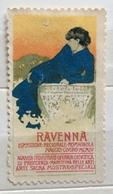 RAVENNA  ESPOSIZIONE REGIONALE ROMAGNOLA  1904  DUDOVICH   ERINNOFILO CHIUDILETTERA - Francobolli