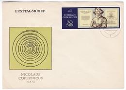 M414 Germany DDR FDC Premier Jour  Weimar 1973 Nicolas Copernic Copernicus - Astronomie