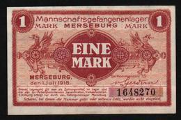 GEFANGENENLAGER GELD LAGERGELD BILLET CAMP MERSEBURG PRISONNIER ALLEMAGNE KG POW GUERRE 1914 1918 - [10] Military Banknotes Issues