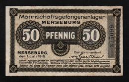 GEFANGENENLAGER GELD LAGERGELD BILLET CAMP MERSEBURG PRISONNIER ALLEMAGNE KG POW GUERRE 1914 1918 - [10] Emisiones Militares