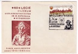 M416 Poland 1983 Bydgoszcz Nicolas Copernic Copernicus Postmark - Astronomie