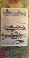 Regional Game, OLD USSR Postcard  - Canada Mardigra - Canoa Race - Rowing  - 1981 - Jeux Régionaux