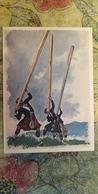 Regional Game. OLD USSR Postcard  - Cú Chulainn - Scotland - Wood Stick Competition - 1981 - Jeux Régionaux