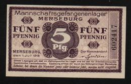GEFANGENENLAGER GELD LAGERGELD BILLET CAMP MERSEBURG PRISONNIER ALLEMAGNE KG POW GUERRE 1914 1918 - Altri