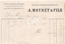 21-1461   1879 OUTILS ET FOURNITURES D HORLOGERIE VERRES DE MONTRES EN GROS A MOYNET ET FILS A PARIS - M. PEYGUE - France