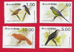 SRI LANKA MNH - 1987 Birds - Vari රු. - Michel LK 788 - 791 - Sri Lanka (Ceylon) (1948-...)