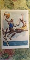 Regional Game, OLD USSR Postcard  - Sweden - Gotland Island  - National Game Pillow Fighting  - - 1981 - Jeux Régionaux