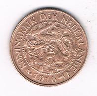 1 CENT 1916 NEDERLAND  /0885/ - [ 3] 1815-… : Royaume Des Pays-Bas